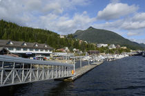 USA, Alaska, Ketchikan, downtown cruise ship docks. by Danita Delimont