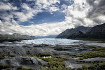 Wide angle view of Matanuska Glacier terminus, mountains and... by Danita Delimont