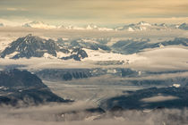 Aerial view of part of Aleutian mountain range in summer by Danita Delimont