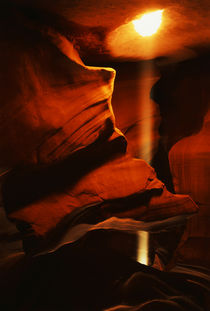 USA, Arizona, Page, Shaft of sunlight penetrating through an... von Danita Delimont