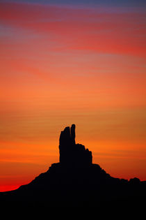 Utah. Arizona Border, Navajo Nation, Monument Valley, sunris... by Danita Delimont