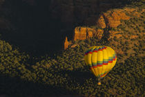 Hot air balloon, Red Rock, Coconino National Forest, Sedona,... by Danita Delimont
