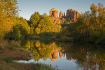 Sunset, reflections, Oak Crek, Cathedral Rock, Red Rock Cros... von Danita Delimont