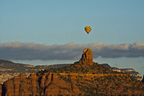 Sunrise, hot air balloon, Chimney Rock, Coconino National Fo... by Danita Delimont