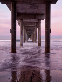 USA, California, La Jolla, Dawn under Scripps Pier at La Jolla Shores by Danita Delimont