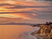 USA, California, La Jolla, Sunset over Black's Beach and coa... by Danita Delimont