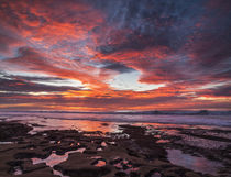 USA, California, La Jolla, Sunset over tide pools at Coast Blvd von Danita Delimont