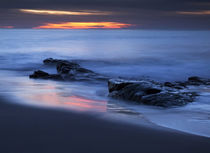 USA, California, La Jolla, Last light of day on beach at Sea Lane by Danita Delimont