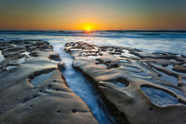 Sunset at tide pools in La Jolla, CA by Danita Delimont
