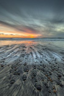 Sunset at Ponto Beach in Carlsbad, CA von Danita Delimont