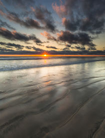 Beach textures at sunset in Carlsbad, CA by Danita Delimont