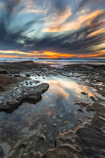 Sunset from the tide pools in La Jolla, CA von Danita Delimont