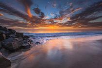 Sunset from Tamarach Beach in Carlsbad, CA von Danita Delimont