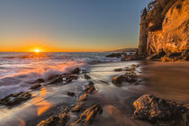 Sunset at Victoria Beach in Laguna Beach, CA by Danita Delimont