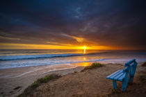 Sunset over the Pacific Ocean in Carlsbad, CA by Danita Delimont