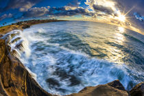 Sunset and waves at Sunset Cliffs in San Diego, CA von Danita Delimont