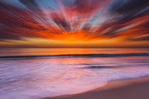 Sunset abstract from Tamarack Beach in Carlsbad, CA by Danita Delimont