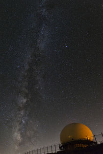 The Milky Way Galaxy over a radar dome on Mt Laguna by Danita Delimont