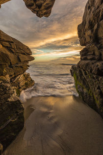 Looking out from a sea cave at Windansea Beach in La Jolla, CA by Danita Delimont