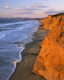 USA, California, Cliffs at Pescadero State Beach by Danita Delimont