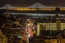 Looking down onto Broadway Street and the Bay Bridge from Ru... von Danita Delimont
