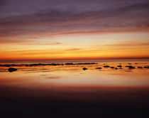 USA, California, San Diego, Sunset over tide pools on the Pa... von Danita Delimont