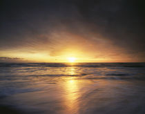USA, California, La Jolla, Sunset over a beach and waves on ... von Danita Delimont