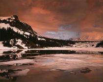 USA, California, Sierra Nevada Mountains, A mountain peak re... by Danita Delimont