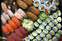 Assortment of Japanese sushi favorites. by Danita Delimont