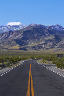 Road coming over Panamint Range into Death Valley, Death Val... by Danita Delimont