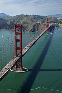 USA, California, San Francisco, Golden Gate Bridge, and Mari... by Danita Delimont