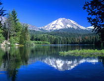 Mt. Lassen Reflected in Manzanita Lake by Danita Delimont