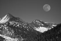 Moonrise, Sierra-Nevada, Glacier Point Vista, Yosemite Natio... von Danita Delimont
