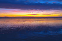 Low tide and sunset over Santa Cruz Island, Channel Islands ... by Danita Delimont