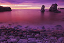 Sea stacks at dusk, Soberanes Point, Garrapata State Park, B... by Danita Delimont