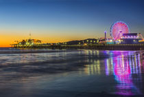 Santa Monica Pier Twilight by Danita Delimont