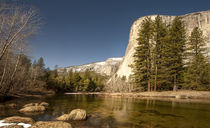 El Capitan towers over Merced River by Danita Delimont
