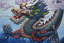 USA, California, San Francisco, Dragon Mural. by Danita Delimont