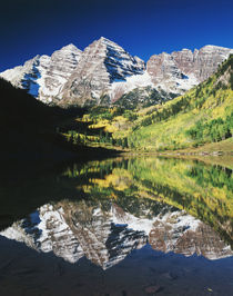 USA, Colorado, White River National Forest, Maroon Bells ref... by Danita Delimont