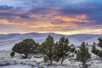 Sunset over Great Sand Dunes National Park. by Danita Delimont