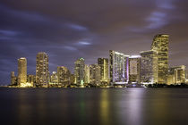 Evening twilight over Miami Skyline, Miami, Florida, USA by Danita Delimont
