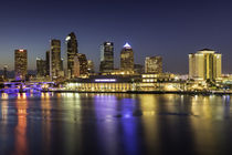 Twilight over the skyline of Tampa, Florida, USA by Danita Delimont
