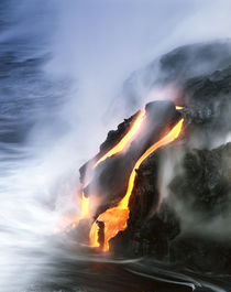 Hawaii Islands, Kilauea, View of lava flowing at Hawaii Volc... by Danita Delimont