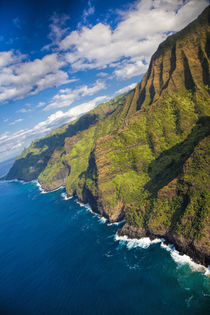 Aerial of the Napali Coastline by Danita Delimont