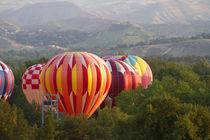 Hot air balloons ready for flight in Ann Morrison Park in Bo... von Danita Delimont