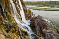 Water falls on small stream flowing into Snake River, Idaho, USA. von Danita Delimont