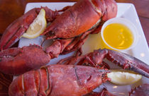 Portland, Maine, lobster dinner at famous Gilbert's Chowder ... by Danita Delimont
