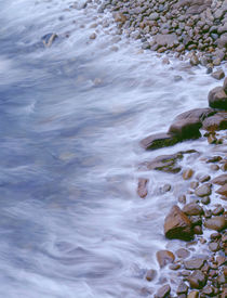 USA, Maine, Acadia National Park, Rocky shoreline and incomi... von Danita Delimont
