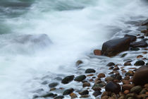 USA, Maine, Acadia National Park, Ocean waves breaking on ro... by Danita Delimont