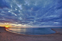 The sun sets over Head of the Meadow Beach, Cape Cod Nationa... by Danita Delimont
